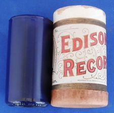 "EDISON BLUE AMBEROL CYLINDER  PHONOGRAPH RECORD - ""THE TEDDY BEAR'S PICNIC"""